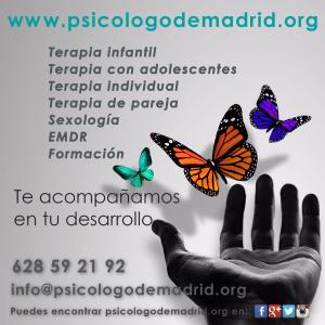 En psicologodemadrid.org hacemos terapia individual, terapia de pareja, terapia infantil, terapia con adolescentes, EMDR, sexología, sesiones de relajación, formación...